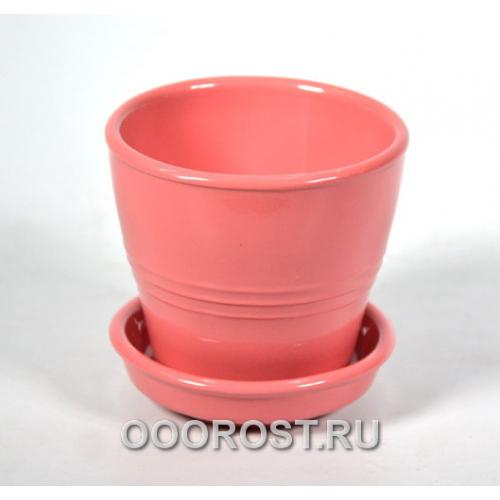 Горшок Ведро №5 розовая дымка  0,23л, d9, h8см