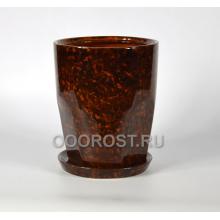 Горшок Авангард №1 (коричневый) d23, h29, v9л