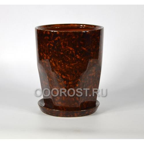 Горшок Авангард №2 (коричневый) d20, h25, v5л