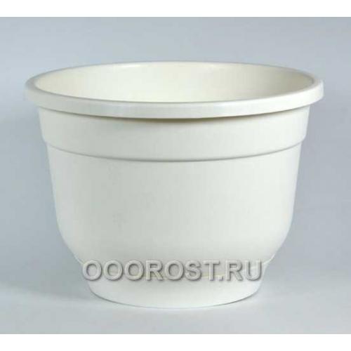 Горшок Флокс 2,5л белый с поддоном