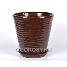 Горшок Новая волна 5,5л (глянец шоколад)
