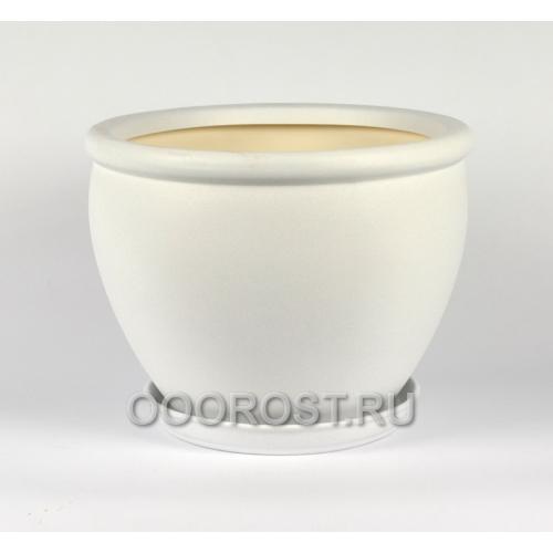 Горшок Вьетнам №2 крошка белая 10л, d30 см
