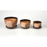 Комплект из 3 горшков Кувшинка-Кружева d17, 13.5, 10см