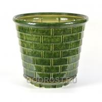 Горшок Премьера зеленый 38л, d44 см, h37 см