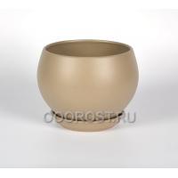 Керамический горшок Шар №1 крошка капучино 4.1л, d23см