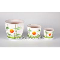 Комплект Тюльпан-Азия из 3 горшков 2.5л, 1л, 0.4л