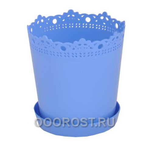 Горшок Ришелье d17см h18 v2л голубой с под