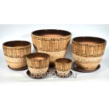 Комплект из 5 горшков Тюльпан-Египет     8л, 5л, 2,5л, 1л, 0,4л