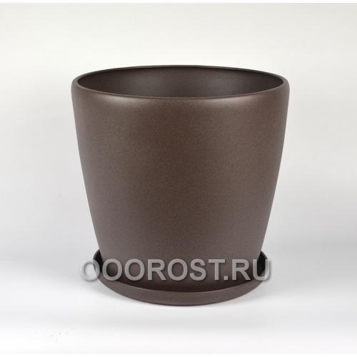 Горшок Грация №0 крошка шоколад 30л, d40 см, h39 см