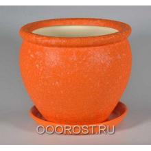 Горшок Вьетнам №3 (Шелк оранжевый), 5л, d24см