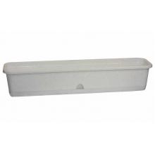 Ящик балконный 80см с поддоном Мрамор