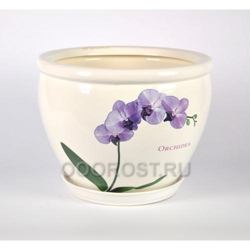Горшок Вьетнам №1 (Белый, орхидея) 18л, d37,5см