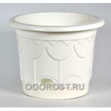 Горшок Тюльпан d22см белый с поддоном
