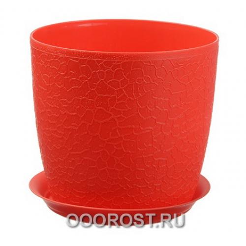 Кашпо Верона-М с поддоном D18см   красный