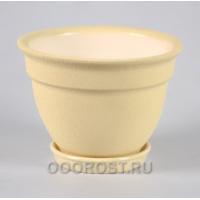 Керамический горшок Колокол 1,8л кожа бежевый d19см, h13,5см