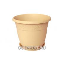 Кашпо Рябина с под. D16см, 1,4л  белая глина
