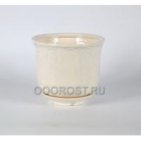 Керамический горшок Лилия №2 белый 4,5л, D24см, H19см