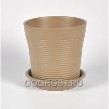 Горшок Вуаль резной крошка капучино 1 л, d14.5, h14 см