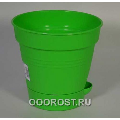 Горшок Глория с нижн. поливом d16 свет-зелен