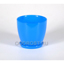 Горшок стеклянный Джина №2 крашеный Синий с поддоном d13,5см, h12,5см