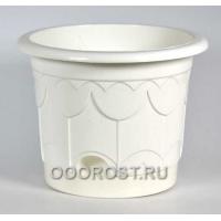 Горшок Тюльпан d25.5см белый с поддоном