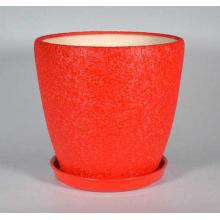 Горшок Грация 20л (шелк красный) d33см, h31см