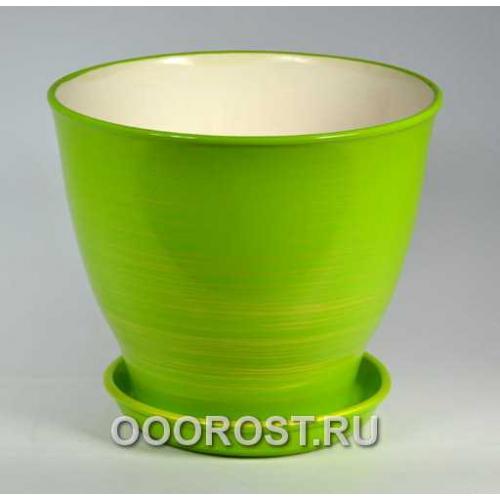 Горшок Виктор (Глянец салат-золото)  4л, d20, h18см