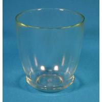 Стеклянный горшок №5 с поддоном Прозрачный d19,5см, h19,5см