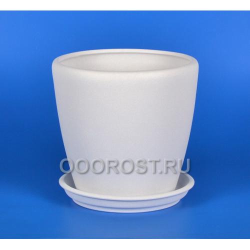 Горшок Грация №1 (крошка белый) 10л, d26см, h26см