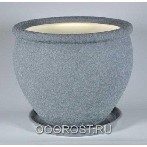 Горшок Вьетнам №2 (Шелк металлик) 10л, d30см