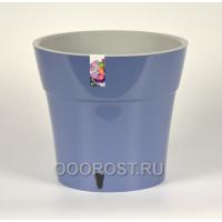 Горшок Дали 2.1л, дымчатый синий-серый, d15см, h15см