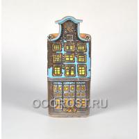 Керамическое кашпо домик Нидерланды № 4 высота 32см, ширина 13*13см, 3.2л