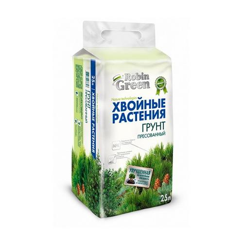 Грунт Robin Green для хвойных растений брикет 25 л