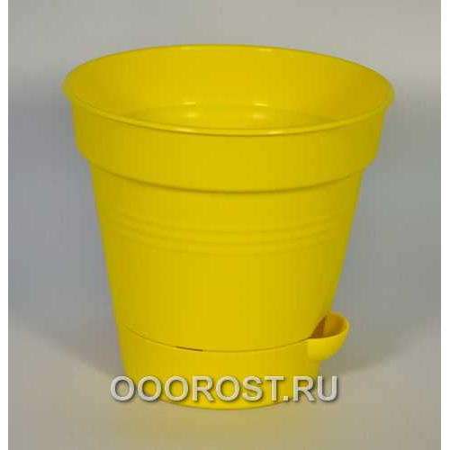 Горшок Глория с нижн. поливом d20 темн-желт