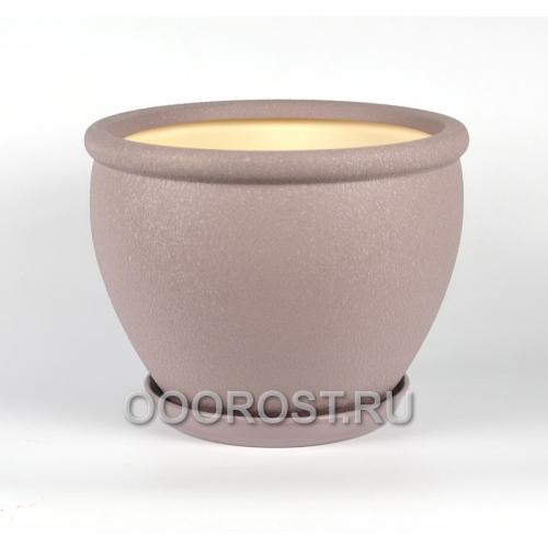 Керамический горшок Вьетнам №1 Шелк аметист 18л, d37.5 см
