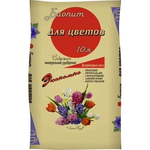Плодородная смесь Биопит Для цветов 10л