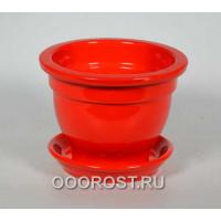 Горшок Фиалочница 0,5л глянец Красный d12см