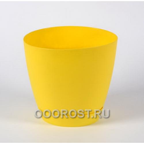 Горшок Камея 1,4л (желтый) d13,8см  h13см
