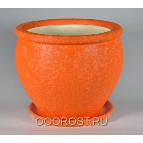 Горшок Вьетнам №2 (Шелк оранжевый) 10л, d30см