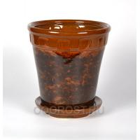 Горшок Альфа №2 коричневый 6 л