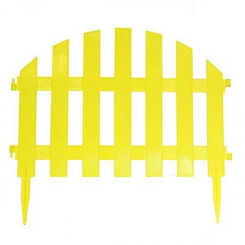 Заборчик Уютный сад желтый (дл 2,67м, выс 34,5см, 7секций)