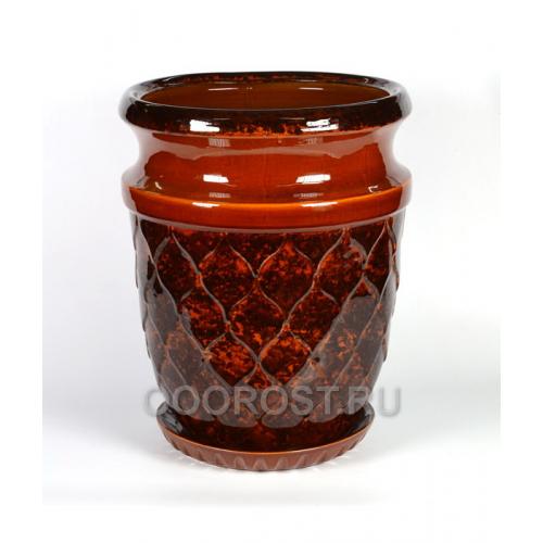Горшок Кумир большой 70л, d 41 h 52 коричневый
