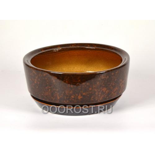 Горшок Бонсай d23,5см  h10см коричневый