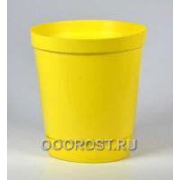 Горшок Глэдис 1,2л желтый с поддоном