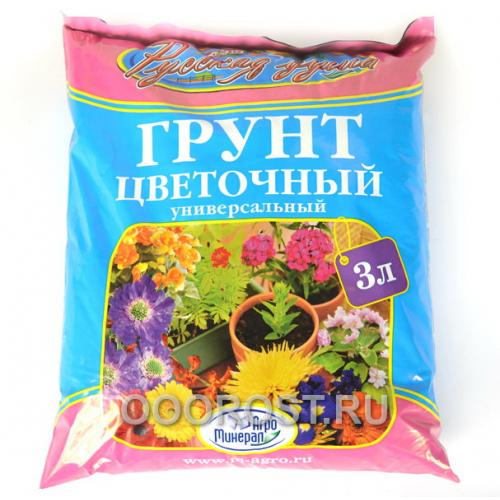 Грунт Русская душа цветочный 3л