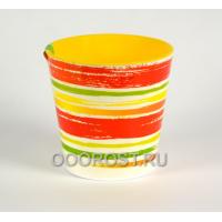 Кашпо Деко со вставкой d16см, h15,5см Краски оранжевые