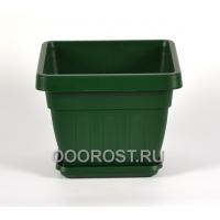 Горшок Ирис квадрат d24см 6,4л (зел)