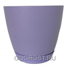 Горшок Камея 1.4л фиолетовый d13.8см h13см