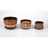 Комплект из 3 горшков Кувшинка-Египет d17, 13.5, 10см