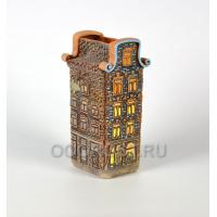 Керамическое Кашпо, Ваза Нидерланды дом №1 h28см, диаметр 13*10см, 2.4л